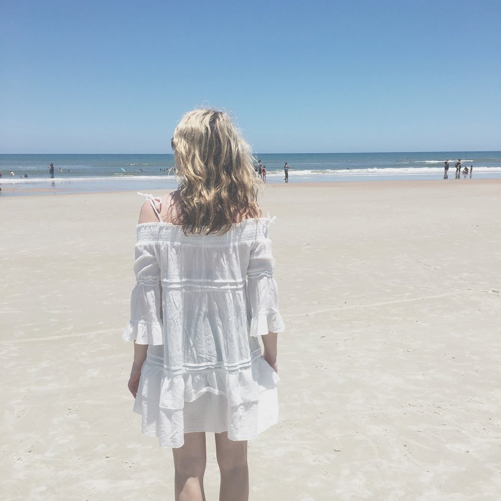 Soaking in the sunshine and ocean air at Ormond Beach