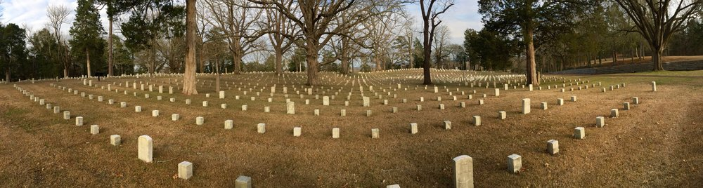 The National Military Cemetery at Shiloh battlefield.
