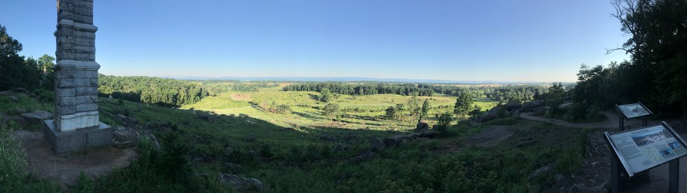 The view from Little Round Top.