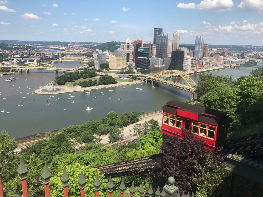 Downtown Pittsburgh as seen from the top of the Duquesne Incline. RickHolmes photo