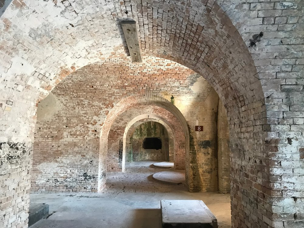 Fort Pickens was built to protect the entrance to Pensacola Bay.
