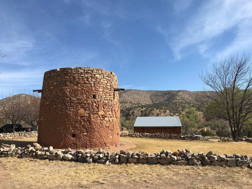 The Torreon, Lincoln's oldest building, was used by Spanish settlers to hold off Indians, and by snipers during the Lincoln County War in 1878.