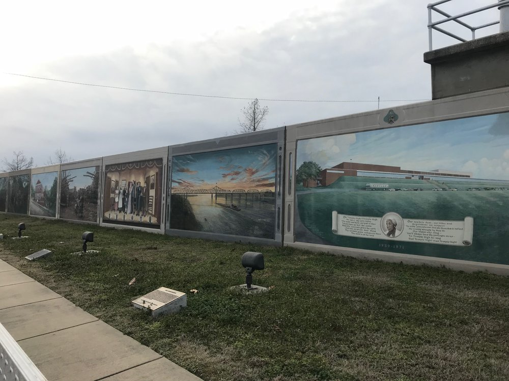 Murals painted on the levee separating downtown Vicksburg  from the Mississippi River celebrate its history, which is about all  Vicksburg has left to celebrate.