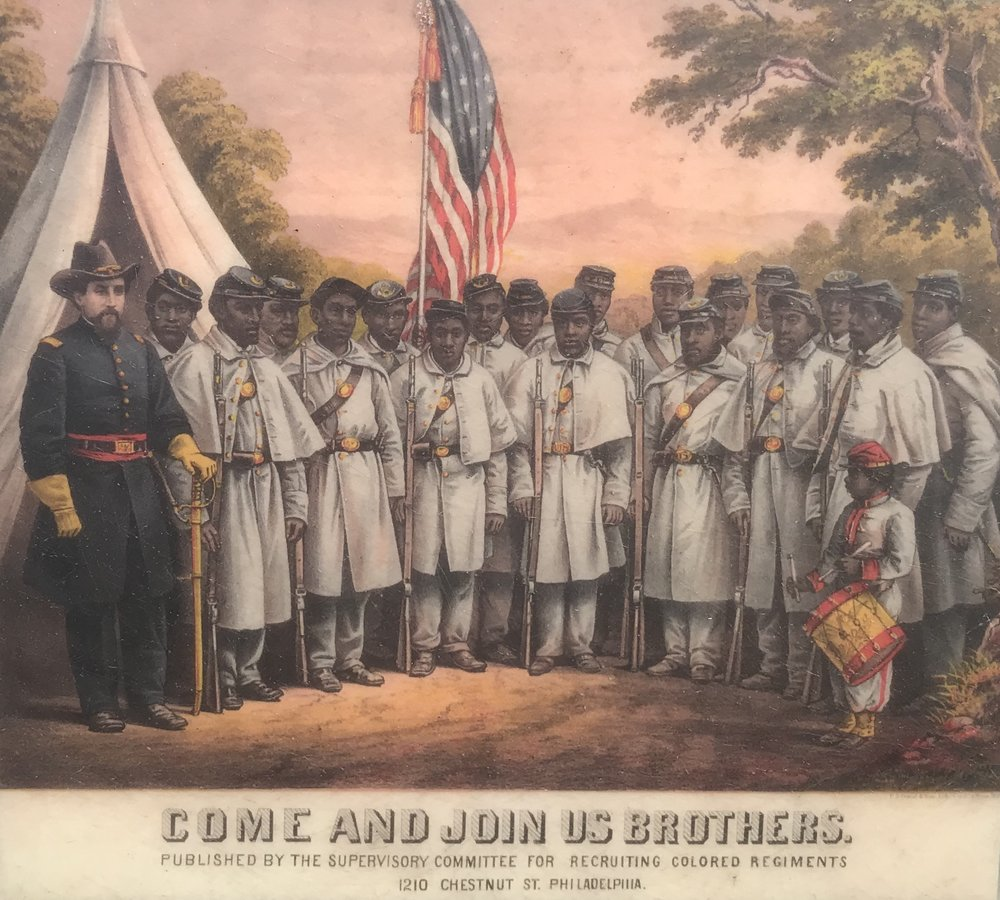 "As general, Grant embraced Lincoln's vision, becoming the first to send ""colored regiments"" into battle."