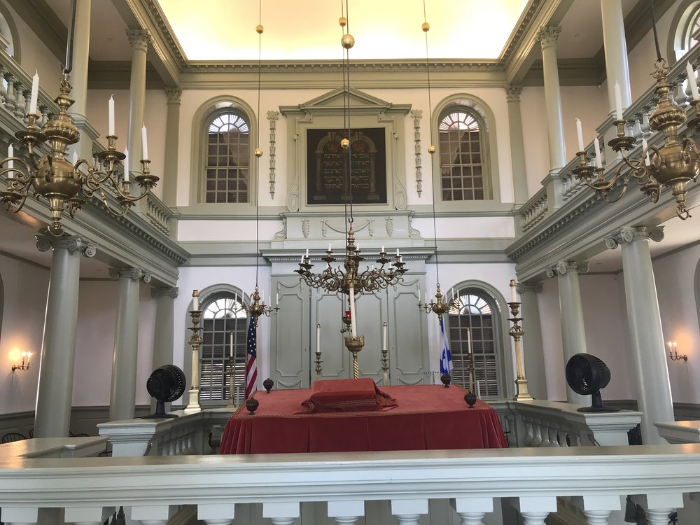 Touro Synagogue in Newport, R.I., still has an active, if small, congregation.