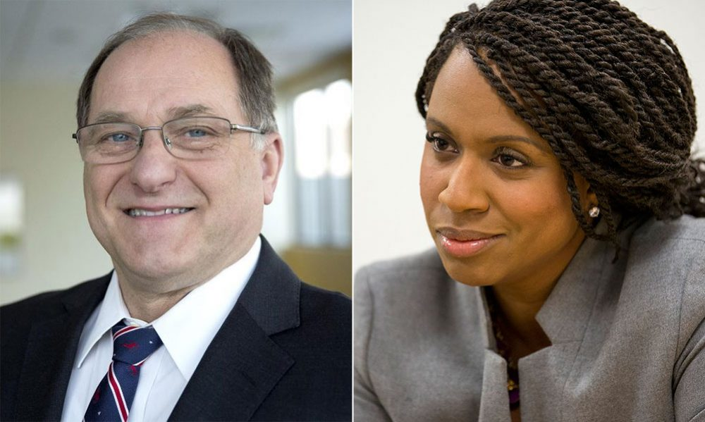 Incumbent Michael Capuano and challenger Ayanna Pressley