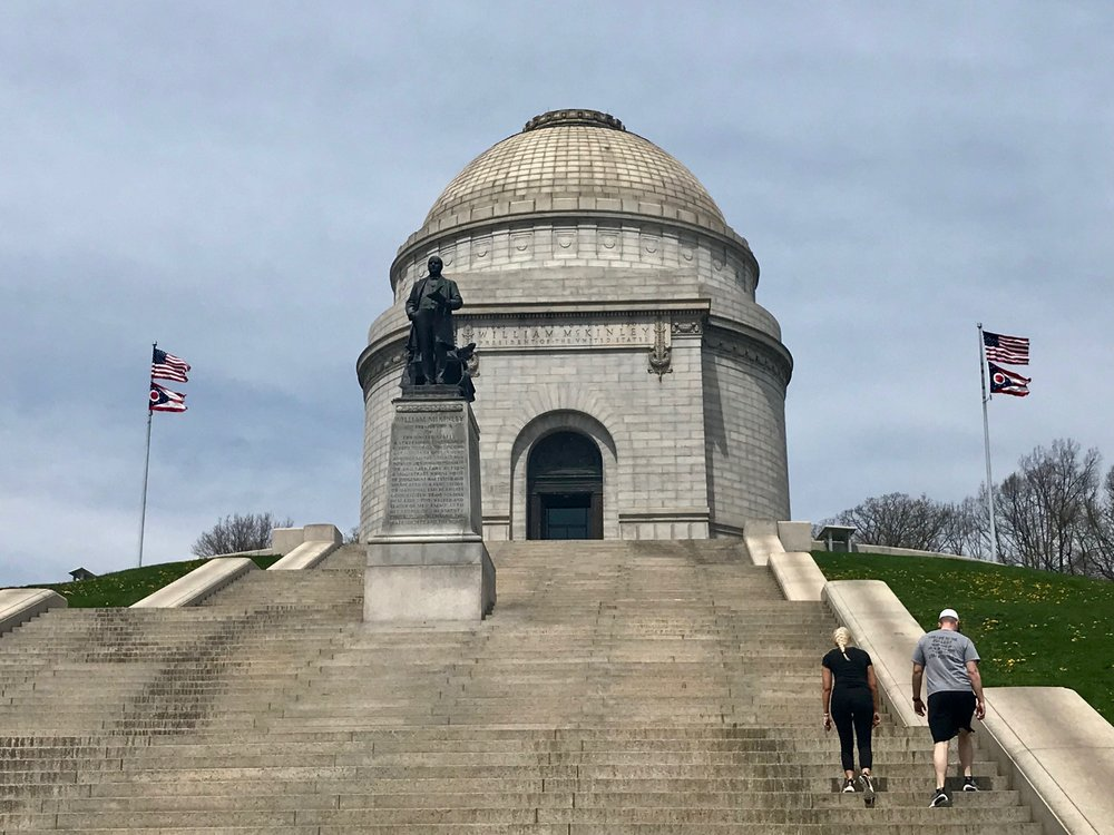 The tomb of former president William McKinley in Canton, Ohio.