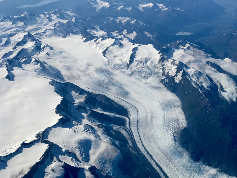The mountains of Alaska, from the air.
