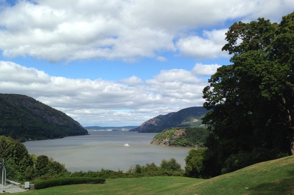 The Hudson River, looking north from the U.S. Military Academy at West Point.