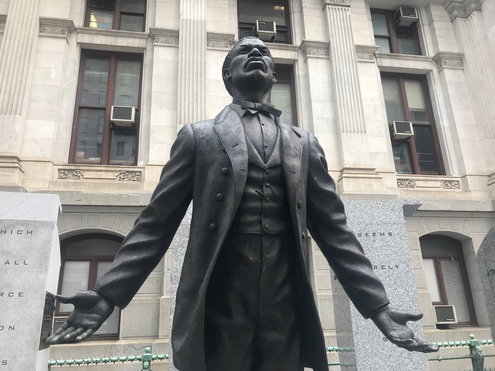 The new statue outside Philadelphia City Hall memorializes Octavius Catto, a civil rights activist who desegregated baseball a century before Jackie Robinson, refused to leave his seat on a trolley a century before Rosa Parks and was assassinated a century before Martin Luther King Jr. I wrote about him here:  https://www.rickholmes.net/revisiting-reconstruction/
