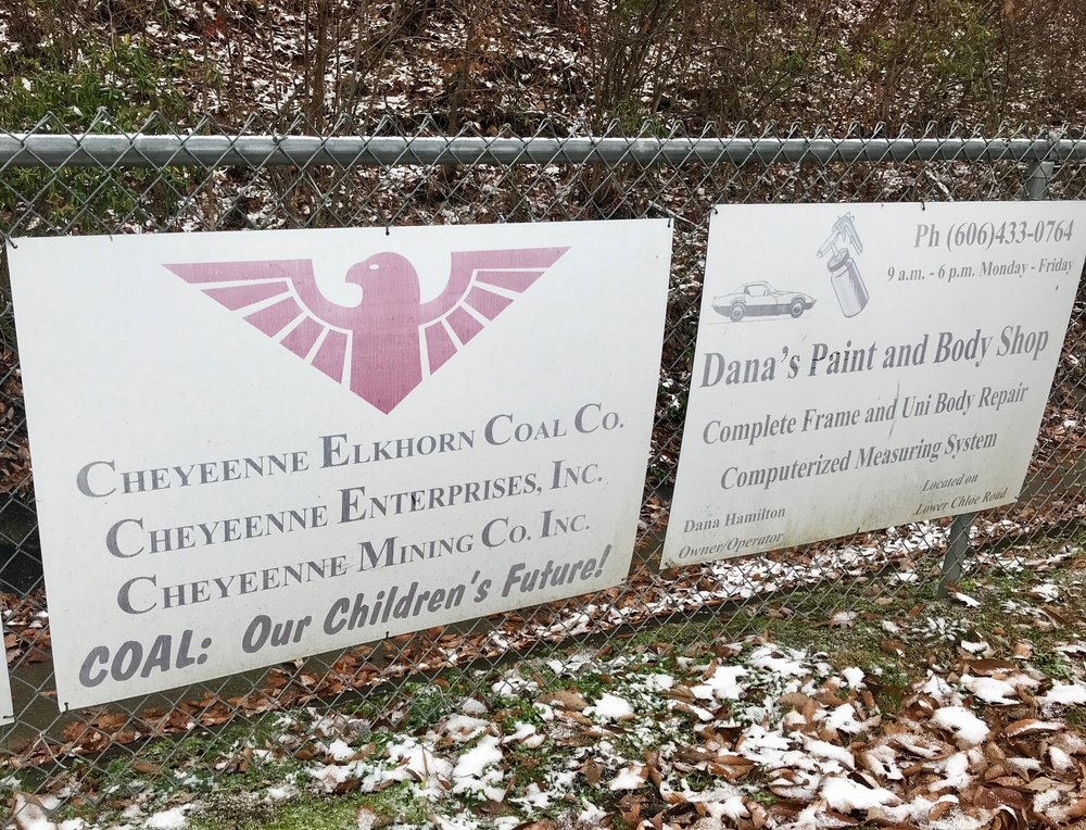 Signs at a Pikeville soccer field.