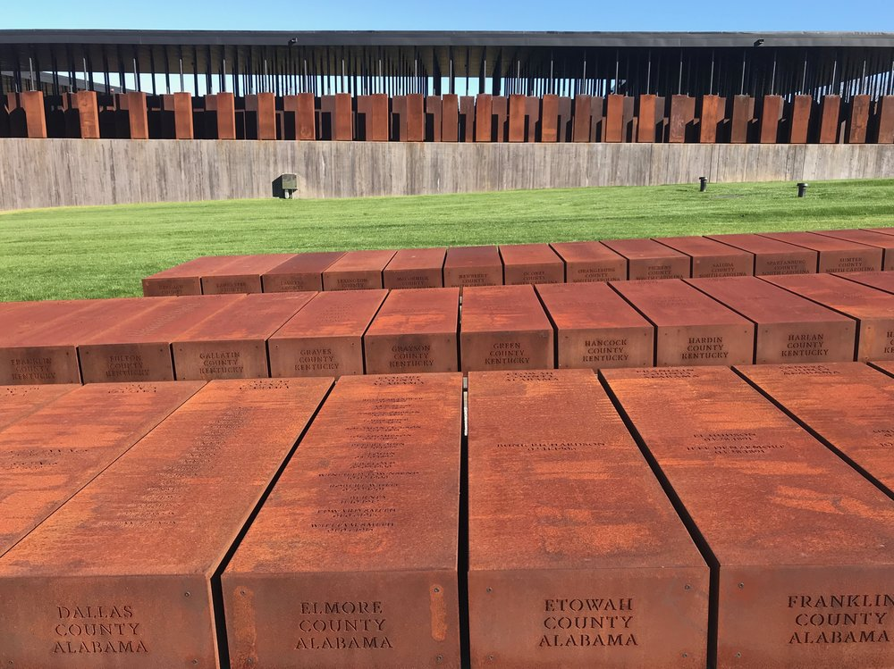 The Equal Justice Initiative, which is responsible for building Montgomery's lynching memorial, made duplicates of the steel slabs, which they hope will find a permanent home in the counties where the lynchings occurred.