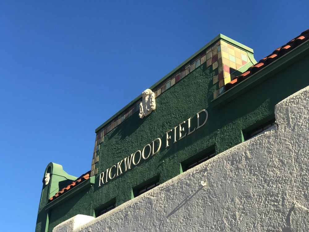 Rickwood Field in Birmingham, said to be the oldest pro baseball field still in existence.