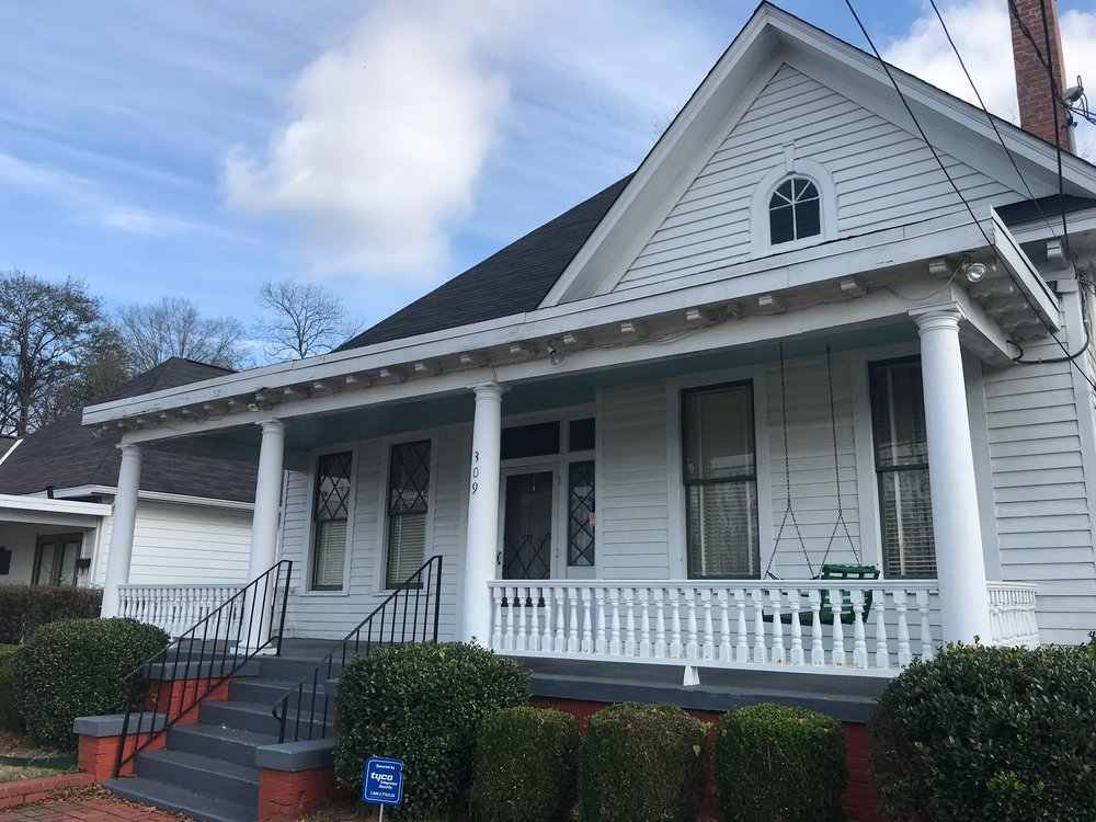 The parsonage in Montgomery, Ala., where Martin Luther King and his family lived.