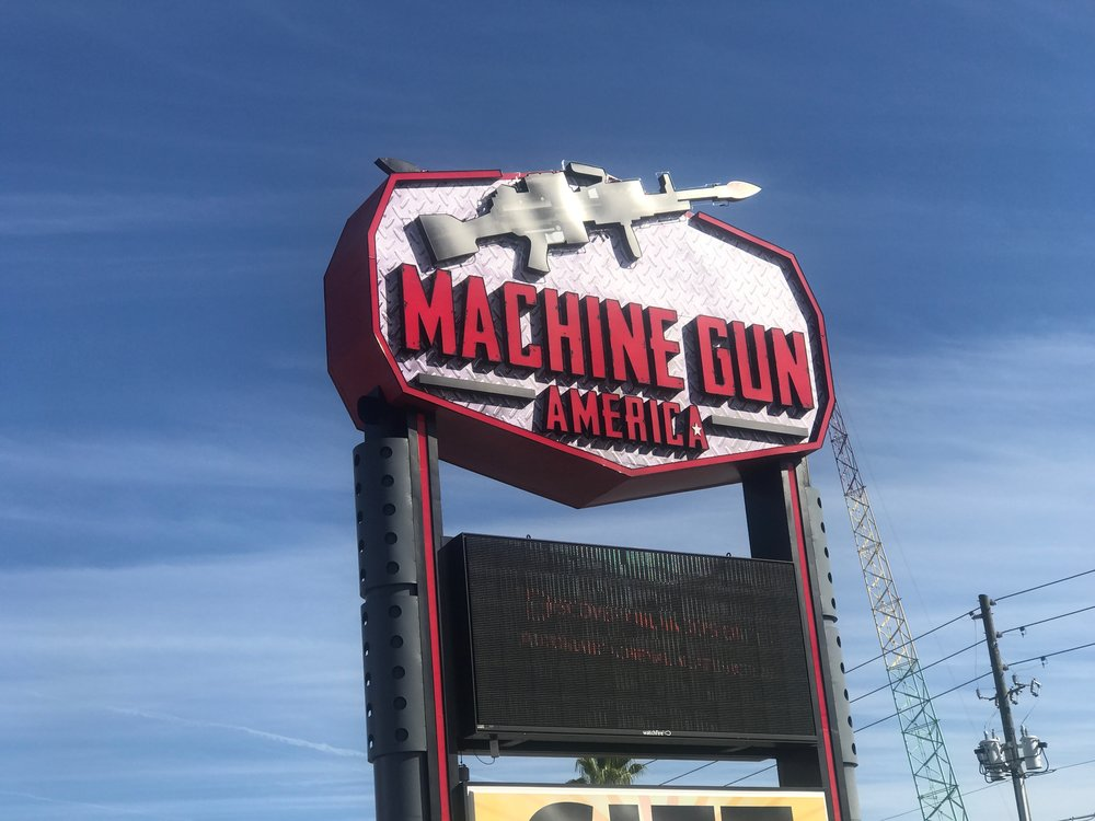 Machine Gun America, in Kissimmee, Fla., is one of the few places in the U.S. where it is legal for civilians to shoot fully-automatic rifles.