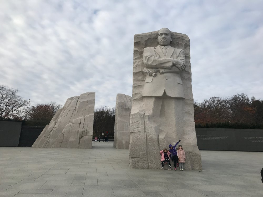 The memorial to Dr. Martin Luther King Jr. on the National Mall in Washington, DC.