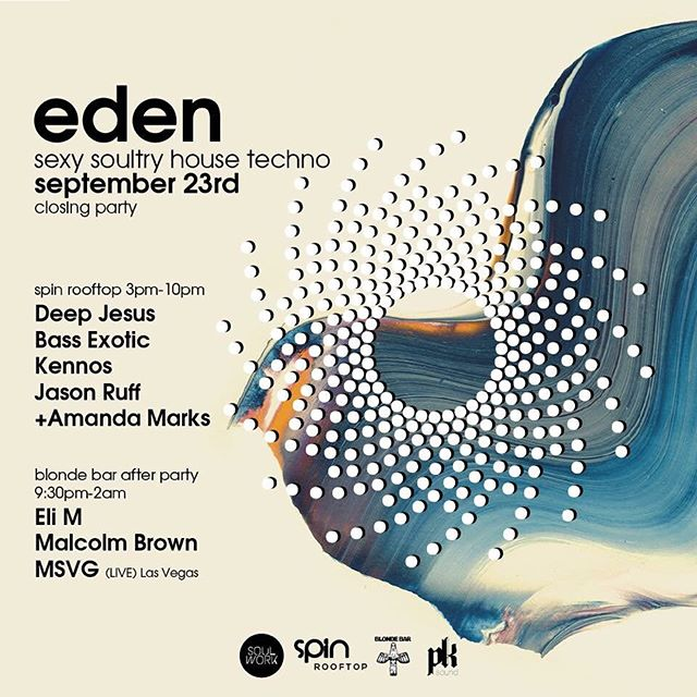 MSVG is playing in San Diego this coming Saturday! The last Eden rooftop party at Spin will be from 3-10 pm, then the afterparty all night at Blonde Bar.