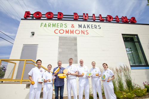 Founder Kieran Folliard with Cheesemaker Rueben Nilsson and staff