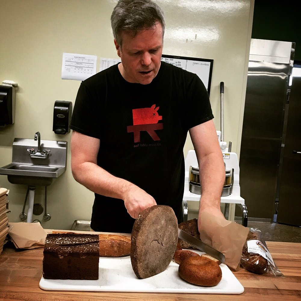 Steve showing off his bread during the Forward Eats tour