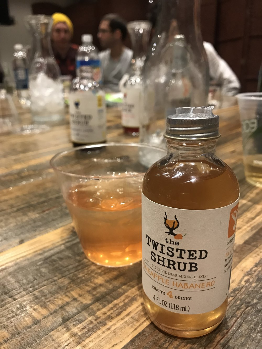 Pineapple Habanero shrub & whiskey = my favorite cocktail combo of the evening