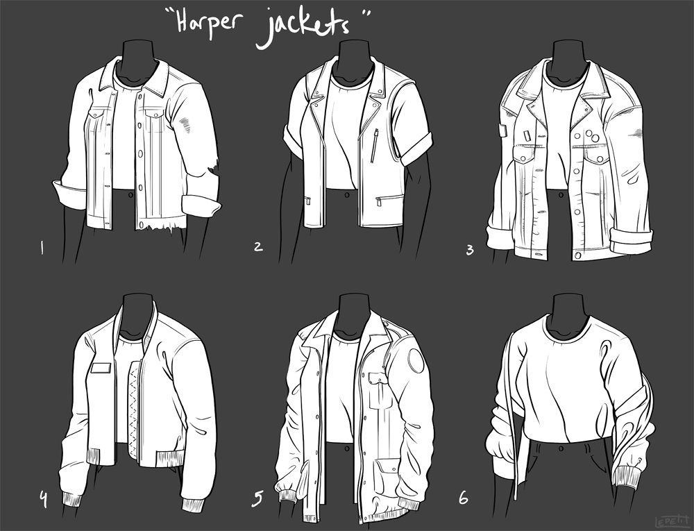 Jacket tests: Personal Comic Project