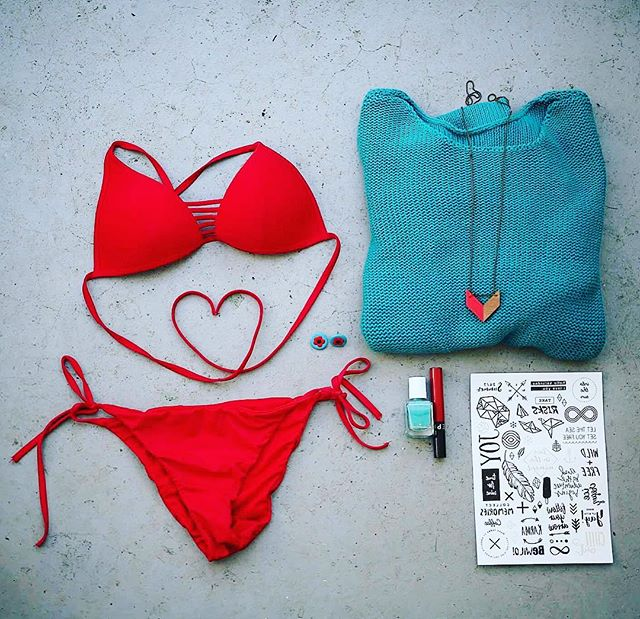 Prepare for summer #red #tirquoise #temporarytattoo #swimwear #swimsuit #nailpolish #heart #summer #auckland #lipstick #style #newzeland #newzealand #neezealandstyle