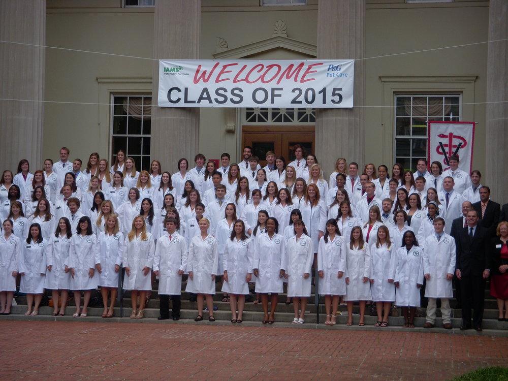 Dr. Atticus Mabry's Veterinary School Class of 2015 @ UGA's College of Veterinary Medicine