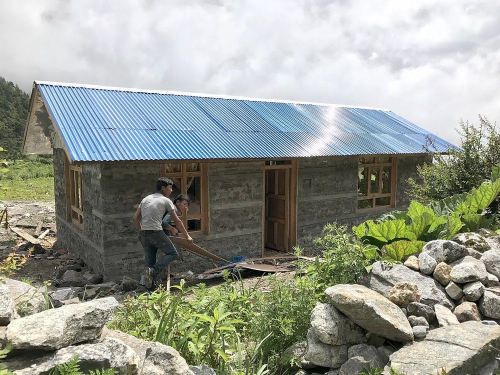 Home rebuilt with the help of Trek Relief