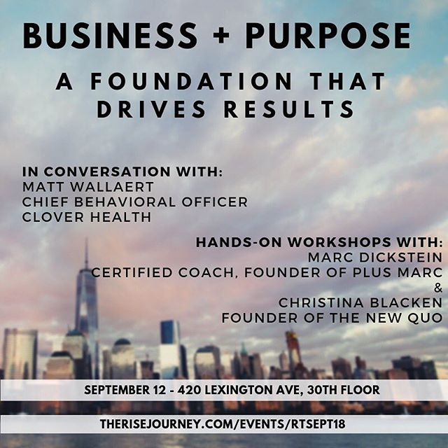 Hear from Clover Health's Chief Behavioral Officer, Matt Wallaert; certified coach, Marc Dickstein; & strategic storyteller, Christina Blacken. Learn all the things with us 🤯 . Mini workshops with key takeaways and inspiring conversation. . Link in bio 🔝 . @russelltobin  @insideclover  @mattwallaert #purpose #findyourpurpose #startups #startuplife #entrepreneur #dobusinessbetter #diversityandinclusion #siliconalley #workplaceculture #hiring #sourcing #howto #buildteams #entrepreneurship #tech #technology #founder #workhard #vc #motivation #community #socialchange #socialimpact #socialentrepreneurship #business