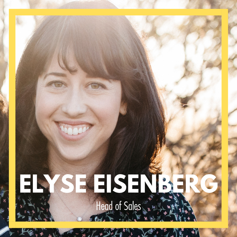 ELYSE EISENBERG  HEAD OF SALES  A graduate of the USC Annenberg School for Communication and Journalism, Elyse began her career in Los Angeles in the Music Industry at the leading record label, Interscope Records. Working for the Head of Strategic Investments and New Ventures, she loved the opportunity to research and learn about new startups and technologies that would shape the future of the world we live in.  After working for a variety of companies in Los Angeles, she and her husband made the move to San Francisco to explore and dabble in new industries. Her expansive experience in Account Management, Business Development and Sales led her to work for a beauty data and technology startup.  Her current focus is cultivating new business opportunities, driving revenue and helping grow The Rise Journey!  She currently resides in the city of San Francisco with her husband and son.   LinkedIn