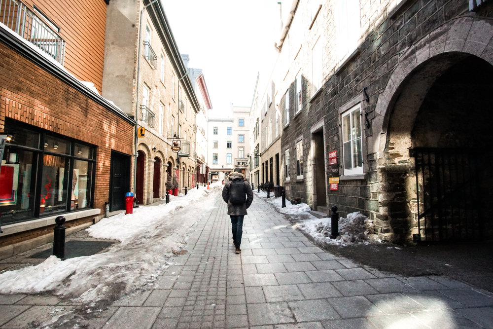The alleyway behind Hotel 71 - steps from everything you'll want to visit!