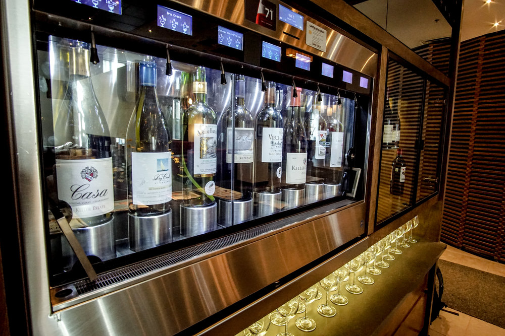 Self-serve Wine & Whisky bars - yes please!