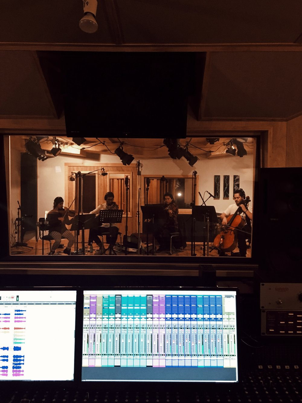 I still can't put into words the feeling of hearing these strings give my simple little arrangement so much emotion and depth. (There were definitely tears.)