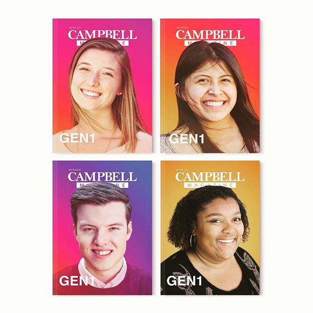 What cover did you get? - This issue of #campbellmagazine is sporting four different covers mailed out at random. Hitting mailboxes soon! -  #magazinedesign #lessismore #sothisisombre #ombre #design #editorialdesign @jabronsink