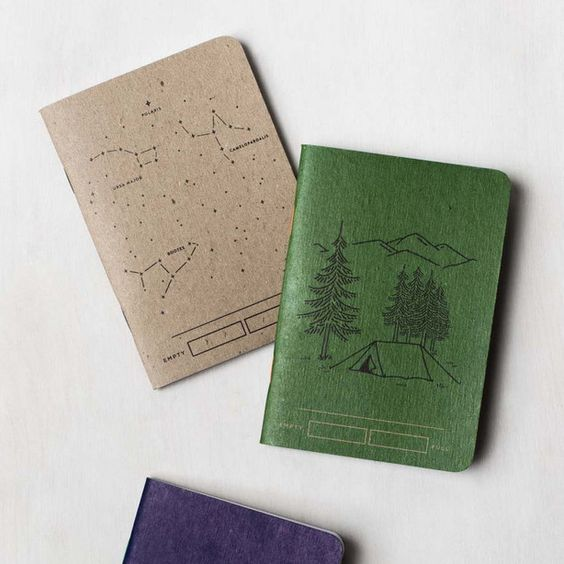Illustrated notebook covers by  United by Blue