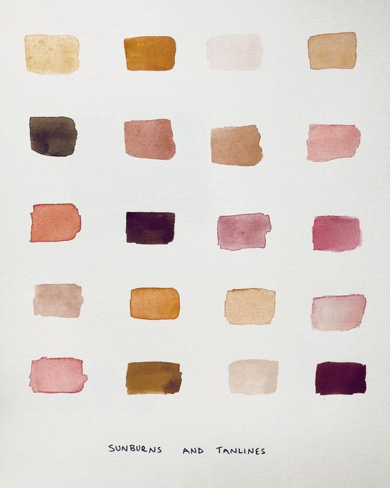 Looked for portrait color mixing guides and found this by jewelry designer,  J. Hannah .
