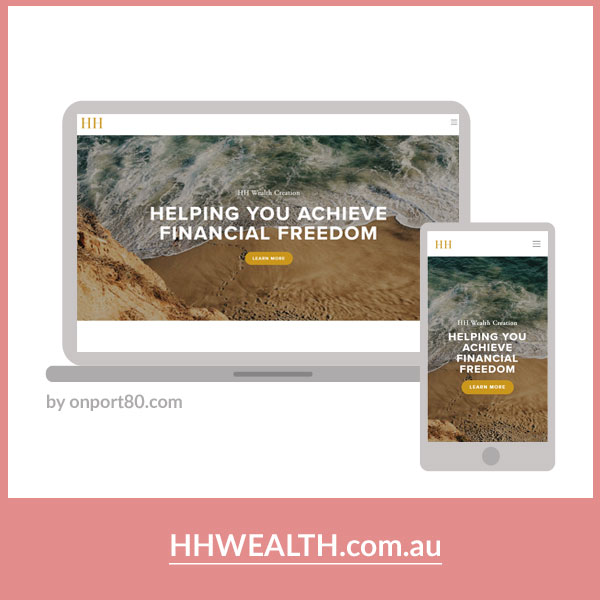 HH WEALTH CREATION   Logo & Web Design