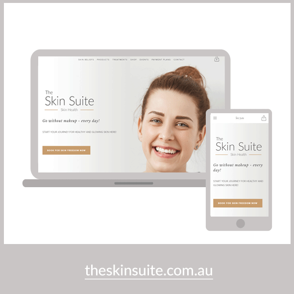 THE SKIN SUITE   Logo & Online Store Design