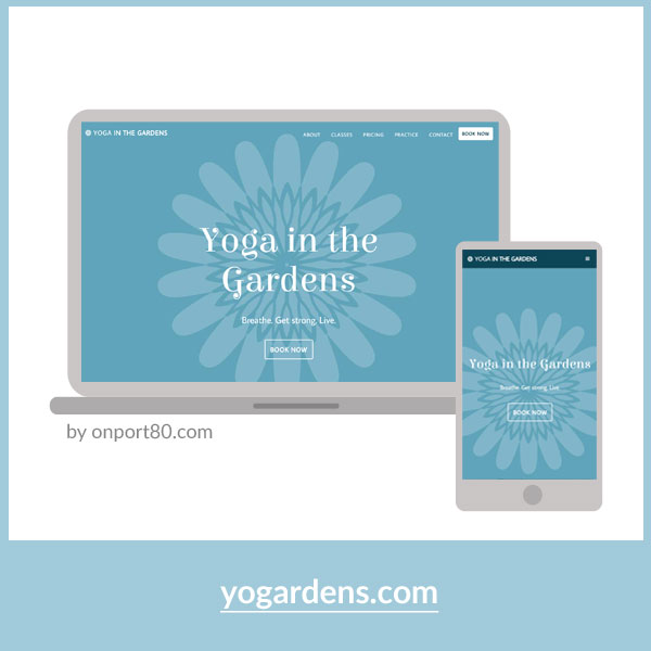 YOGARDENS   Web Design & Acuity Scheduling