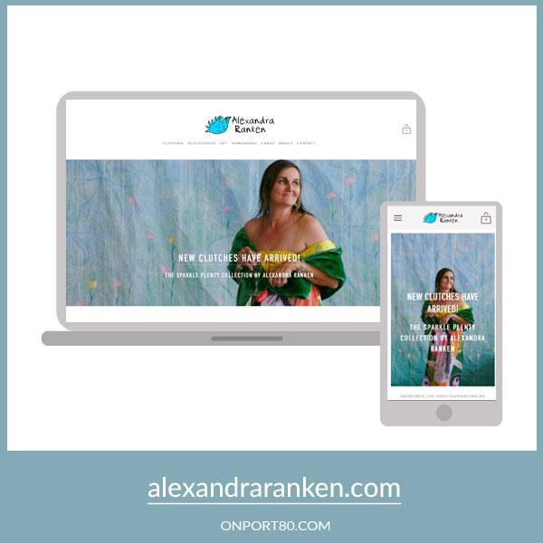 ALEXANDRA RANKEN   Online Store Design
