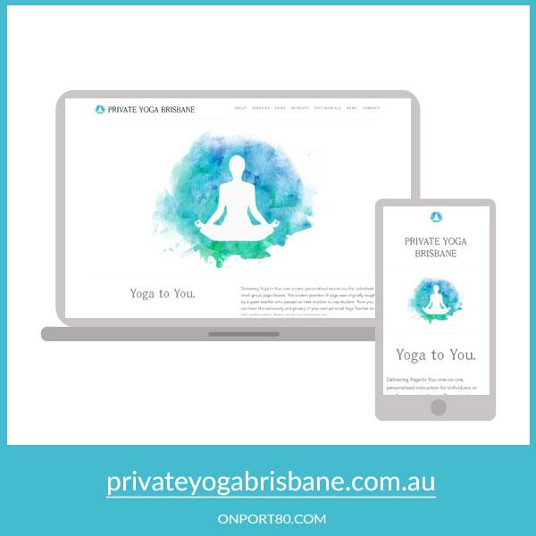 PRIVATE YOGA BRISBANE   Web Design