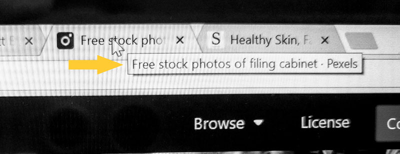 "Pexels""  page title for my last search"