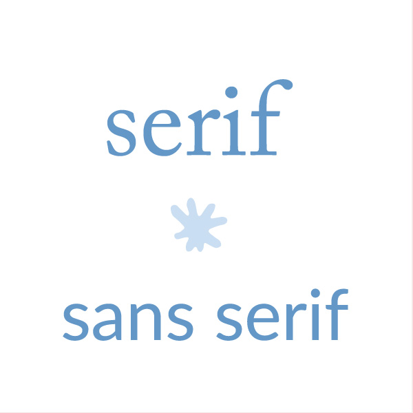 Serif and sans serif fonts. The font matters. Web design tips for small businesses| Logo & web design by On Port 80, Brisbane