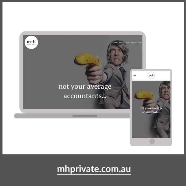m+h Private website, On Port 80 Brand & Web Design, Brisbane, Australia