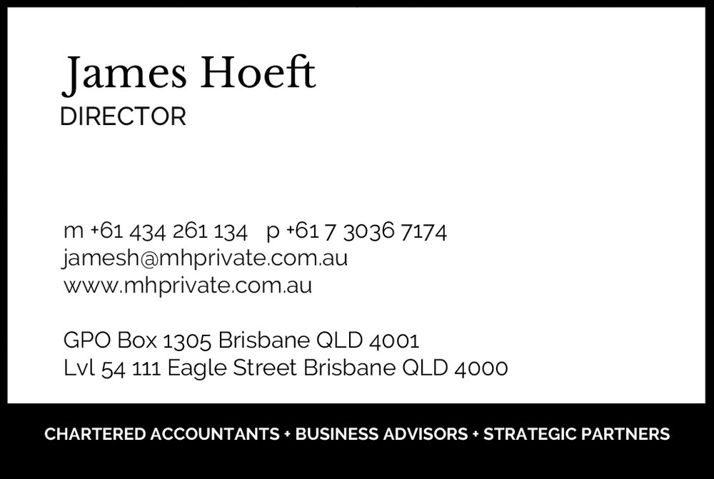 m+h business Card, On Port 80 Brand & Web Design, Brisbane, Australia