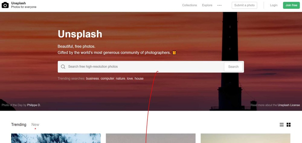 Unsplash used by On Port 80 Web Design, Brisbane Australia