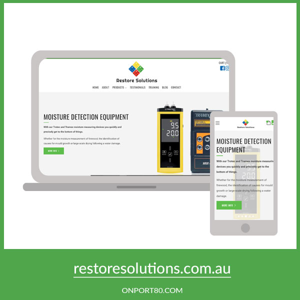 RESTORE SOLUTIONS   Online Store