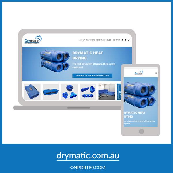 DRYMATIC AUSTRALIA   Web Design