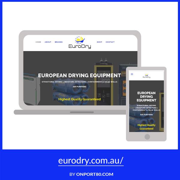 EURODRY   Web Design
