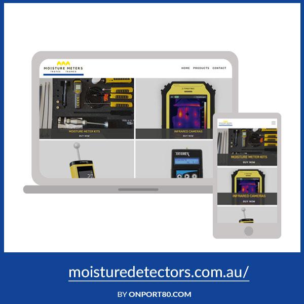 MOISTURE DETECTORS   Web Design